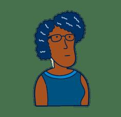 black lady with eye glasses